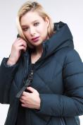 Оптом Куртка зимняя женская одеяло темно-зеленого цвета 1959_03TZ в Казани, фото 7