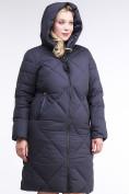 Оптом Куртка зимняя женская одеяло темно-синего цвета 1959_11TS в  Красноярске, фото 4