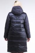 Оптом Куртка зимняя женская одеяло темно-синего цвета 1959_11TS в  Красноярске, фото 5