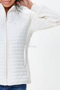 Оптом Молодежная стеганная куртка женская белого цвета 1960Bl в  Красноярске, фото 5