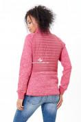 Оптом Молодежная стеганная куртка женская розового цвета 1960R в Казани, фото 3