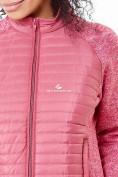 Оптом Молодежная стеганная куртка женская розового цвета 1960R в Казани, фото 4