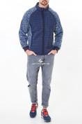Оптом Молодежная стеганная куртка мужская темно-синего цвета 1961TS в Екатеринбурге, фото 2