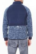 Оптом Молодежная стеганная куртка мужская темно-синего цвета 1961TS в Екатеринбурге, фото 3