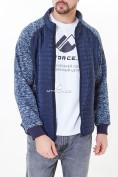 Оптом Молодежная стеганная куртка мужская темно-синего цвета 1961TS в Екатеринбурге, фото 4