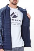 Оптом Молодежная стеганная куртка мужская темно-синего цвета 1961TS в Екатеринбурге, фото 5