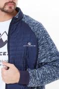 Оптом Молодежная стеганная куртка мужская темно-синего цвета 1961TS в Екатеринбурге, фото 6