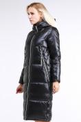 Оптом Куртка зимняя женская классическая черного цвета 1962_01Ch в Нижнем Новгороде, фото 4
