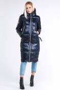 Оптом Куртка зимняя женская классическая темно-синего цвета 1962_02TS в Екатеринбурге