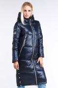 Оптом Куртка зимняя женская классическая темно-синего цвета 1962_02TS в Екатеринбурге, фото 3