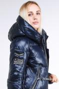Оптом Куртка зимняя женская классическая темно-синего цвета 1962_02TS в Екатеринбурге, фото 6