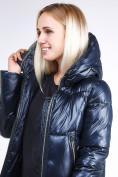 Оптом Куртка зимняя женская классическая темно-синего цвета 1962_02TS в Екатеринбурге, фото 7
