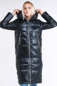 Оптом Куртка зимняя женская классическая темно-серого цвета 1962_03TС в Казани, фото 3