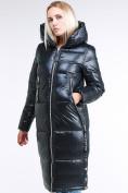 Оптом Куртка зимняя женская классическая темно-серого цвета 1962_03TС в Казани, фото 2