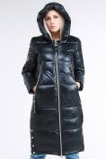 Оптом Куртка зимняя женская классическая темно-серого цвета 1962_03TС в Казани, фото 5