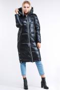 Оптом Куртка зимняя женская классическая темно-серого цвета 1962_03TС в Казани
