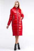 Оптом Куртка зимняя женская классическая красного цвета 1962_14Kr в Казани, фото 3