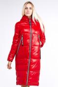 Оптом Куртка зимняя женская классическая красного цвета 1962_14Kr в Казани, фото 4