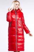 Оптом Куртка зимняя женская классическая красного цвета 1962_14Kr в Казани, фото 5