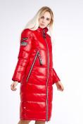 Оптом Куртка зимняя женская классическая красного цвета 1962_14Kr в Казани, фото 6