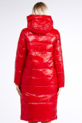 Оптом Куртка зимняя женская классическая красного цвета 1962_14Kr в Казани, фото 7