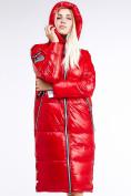 Оптом Куртка зимняя женская классическая красного цвета 1962_14Kr в Казани, фото 8