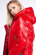 Оптом Куртка зимняя женская классическая красного цвета 1962_14Kr в Казани