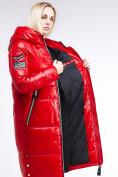 Оптом Куртка зимняя женская классическая красного цвета 1962_14Kr в Казани, фото 10