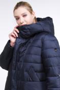 Оптом Куртка зимняя женская классика темно-синего цвета 1968_02TS в Казани, фото 7