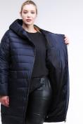 Оптом Куртка зимняя женская классика темно-синего цвета 1968_02TS в Казани, фото 2