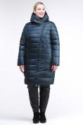 Оптом Куртка зимняя женская классика болотного цвета 1968_20Bt в Казани