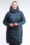 Оптом Куртка зимняя женская классика болотного цвета 1968_20Bt в Казани, фото 2