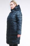 Оптом Куртка зимняя женская классика болотного цвета 1968_20Bt в Казани, фото 3