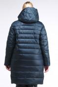 Оптом Куртка зимняя женская классика болотного цвета 1968_20Bt в Казани, фото 4