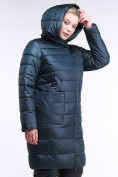 Оптом Куртка зимняя женская классика болотного цвета 1968_20Bt в Казани, фото 5