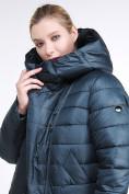 Оптом Куртка зимняя женская классика болотного цвета 1968_20Bt в Казани, фото 7