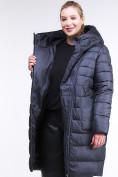 Оптом Куртка зимняя женская классика темно-фиолетового цвета 1968_29TF в  Красноярске, фото 7