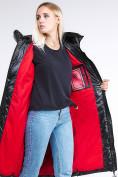 Оптом Куртка зимняя женская молодежная черного цвета 1969_01Ch в  Красноярске, фото 8