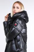 Оптом Куртка зимняя женская молодежная черного цвета 1969_01Ch в  Красноярске, фото 7