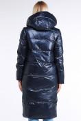 Оптом Куртка зимняя женская молодежная темно-синий цвета 1969_02TS в Казани, фото 4