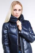Оптом Куртка зимняя женская молодежная темно-синий цвета 1969_02TS в Казани, фото 6
