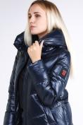Оптом Куртка зимняя женская молодежная темно-синий цвета 1969_02TS в Казани, фото 7