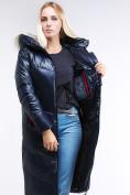Оптом Куртка зимняя женская молодежная темно-синий цвета 1969_02TS в Казани, фото 8