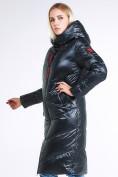Оптом Куртка зимняя женская молодежная темно-зеленого цвета 1969_03TZ в  Красноярске, фото 3