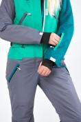 Оптом Женский зимний комбинезон зеленого цвета 19691Z, фото 23