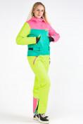 Оптом Женский зимний комбинезон розового цвета 19691R в  Красноярске, фото 4