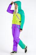 Оптом Женский зимний комбинезон фиолетового цвета 19691F в Казани, фото 8