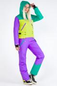 Оптом Женский зимний комбинезон фиолетового цвета 19691F в Казани, фото 9