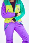Оптом Женский зимний комбинезон фиолетового цвета 19691F в Казани, фото 14