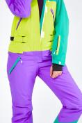 Оптом Женский зимний комбинезон фиолетового цвета 19691F в Казани, фото 15